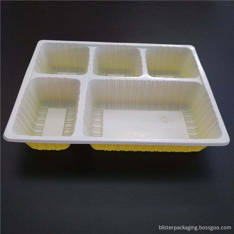 5 compartment food containers PP material