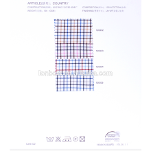 Baixo Preço 100% fio de algodão tingido tecido para camisas