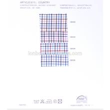 Низкая цена 100% хлопок окрашенная пряжа рубашечная ткань