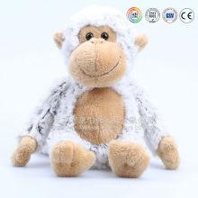 Tamanho grande & barato atacado brinquedo macaco branco de pelúcia com coração do amor