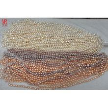 5-6mm AA Grade Rice Shape Original Pearl Strands