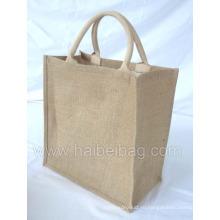 Джут сумка джута сумка джута хозяйственная сумка джута сумка (HBJU-043)