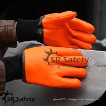 SRSAFETY химическая безопасность рабочие перчатки из ПВХ LOGO customization пряжа трикотажные машины