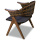 Leisure wooden outdoor rattan patio chair