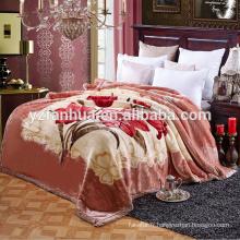 super doux Dubaï raschel couverture usine de la Chine avec belle impression à décors floraux