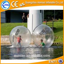 Esfera transparente transparente da água da flutuação / esfera plástica da água do polímero do polo