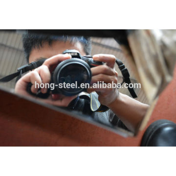 304 304 L acero inoxidable hoja espejo con película de pvc laster