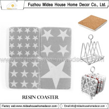 Wholesale Custom Retro Resin Coaster