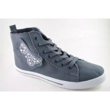 Low Price Platform Sneaker Canvas Shoe with Rubber Sole (NU005-3)