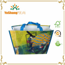Pretty Design PP Woven Bag Custom Made Foldable Tote Shopping Bag