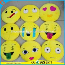 Alta calidad encantadora moda popular varios diseños almohada emoji de felpa