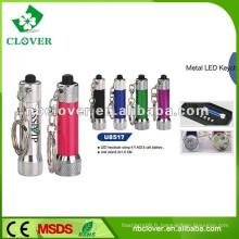 Torche en aluminium et lampe de poche avec porte-clés 6 lampe torche led en aluminium