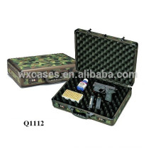 aluminum shotgun gun case with foam inside covered with Camo cloth from China factory