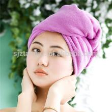 Oem mulheres banheiro super absorvente de secagem rápida de microfibra bath towel cabelo seco cap salão de toalha 25x65 cm