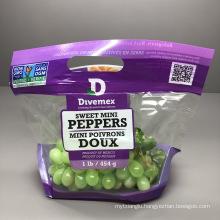 Made in China Zipper Handle Bag Fruit Vegetable Fresh Keeping Packaging Bag