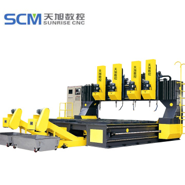 4 * 3m Meja Kerja CNC Gantry Drill Machine Drill