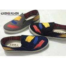 reasonable price factory wholesale white canvas slip-on shoes
