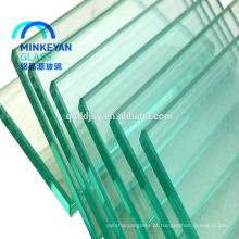 Portas de vidro moderadas interiores de deslizamento do alumínio claro de 8mm 10mm 12mm