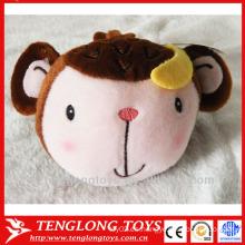 China promoción cute monkey peluche titular del teléfono móvil