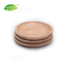 Placa de serviço de madeira de borracha redonda pequena