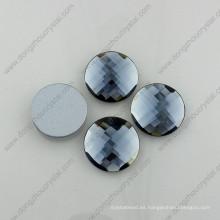 Dz-1031 accesorios redondos de la ropa de la parte posterior plana del vidrio