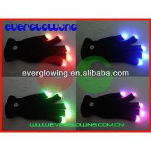 amazing led finger light gloves HOT sell 2016