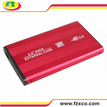 2.5 USB2.0 Laptop SATA External HDD caso