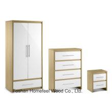 High UV Glossy Combi Wardrobe Bedroom Furniture Set (BD22)
