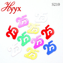 HYYX Best Sale factory direct number 25 shape of festival sequin