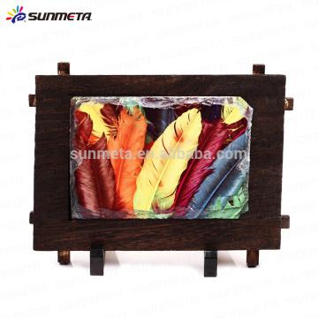 Sunmeta Sublimation Holz Rock Fotorahmen Wand hängen SH38 17 * 12cm