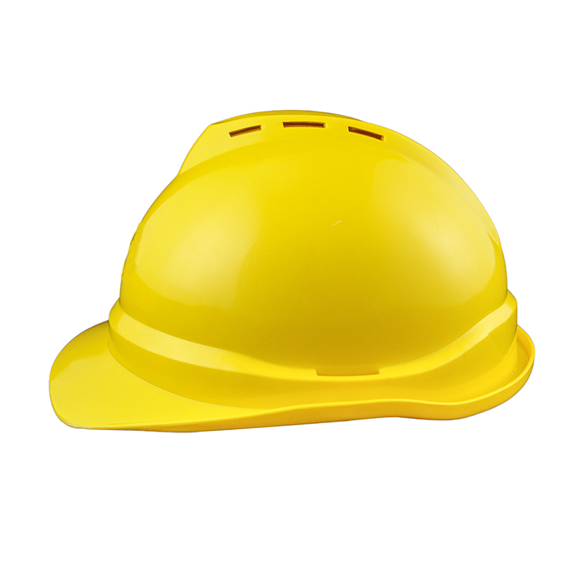 CE industrial V type safety helmet with vents