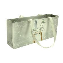 Colorful printing eco white paper bag matt laminated extra large paper shopping bag