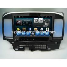 Quad core android para carro, GPS / GLONASS, OBD, SWC, wi-fi / 3G / 4g, BT, para MITSUBISHI Lancer EX