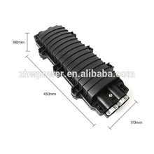 FTTH horizontal type PC 2in 2out 12 24 core optical fiber cable splice closure