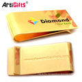 Wholesale promotion gold metal money clips with customized logo