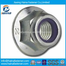 Porca de bloqueio de contra-flange métrica de aço inoxidável