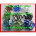 Lanscaping Vidrio Arena Triturado Luz Verde Vidrio Chips Vidrio Decorativo
