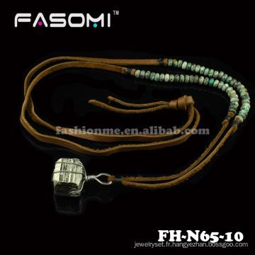 nouvelles conceptions de colliers mode perle bavoir minéraux hommes