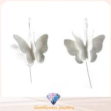 925 Sterling Silber Schmetterling Ohrring für Damen Modeschmuck (E6573)