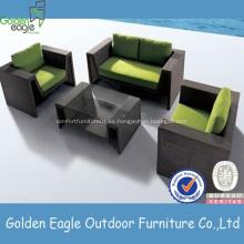 Muebles de sala de estar de mimbre Conjunto de sofá Mesa pequeña