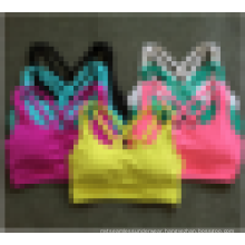 Moisture Wicking Seamless Women Active Workout Cross Back Sports Yoga Bra Top