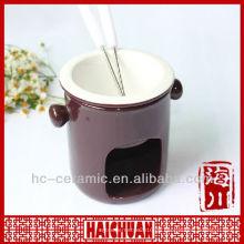 Keramik-Mini-Fondue-Set, Käse-Fondue-Set