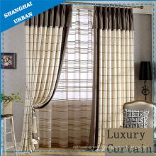 Home Hotel Stripe Linen Curtain