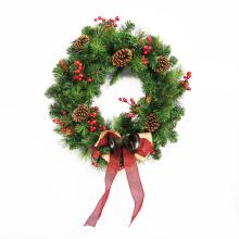 2018 оптовая дешевые искусственные рождественские венки для напольного украшения