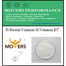 Supplément nutritionnel D-Biotine / Vitamine H / Vitamine B7