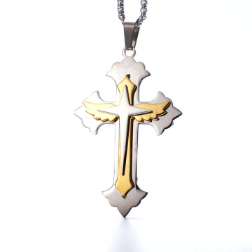 Custom Gold Silver Cross Pendant Cool Mens NeckLace