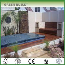 Brown distressed crack-resistant solid merbau garden decking outdoor decking