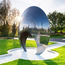 grande escultura moderna abstrata ao ar livre para jardim
