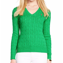 15PKSW32 cable cotton sweater women