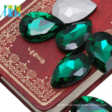 Point back pear drop crystal fancy glass stone for hair decoration jewelry